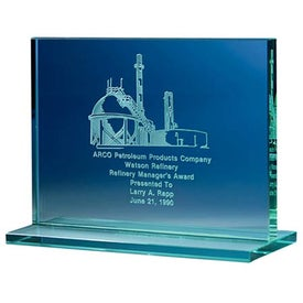 Jade Award with Jade Base Imprinted with Your Logo