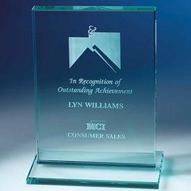 Personalized Jade Award with Jade Base