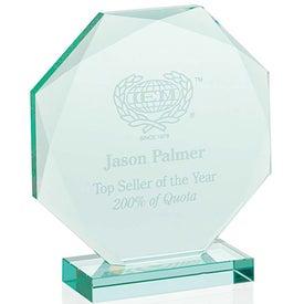 Monogrammed Jade Octagon Award