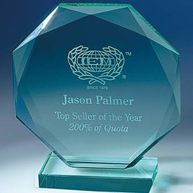 Personalized Jade Octagon Award