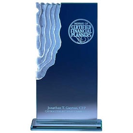 Imprinted Jade Sculpted Waterfall Award