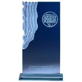 Imprinted Jade Sculpted Waterfall Award