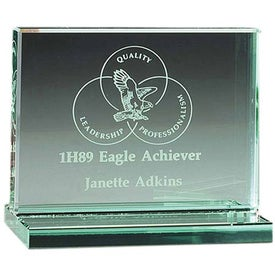 "Jade Award with Jade Base (4"" x 3.375"" x 3"")"