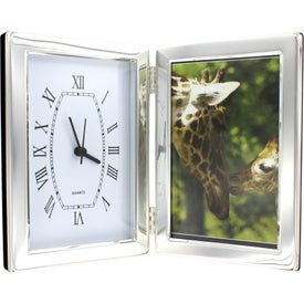 "Jadis I Photo Frame and Hinged Clock (4"" x 6"")"