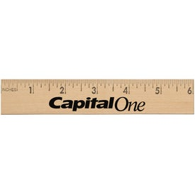 Jo-Bee Wooden Ruler (6 In.)