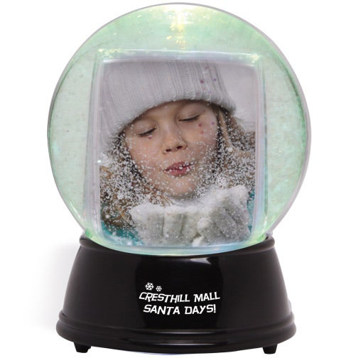 Clear / Black Large Light Up Snowglobe