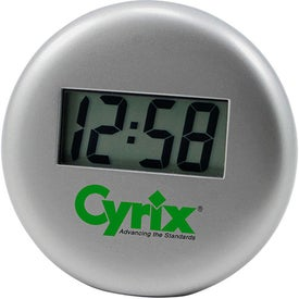 Large Digital Display Metal Desk Clock