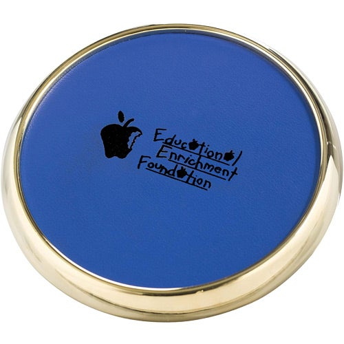 Royal / Gold Leather Coaster