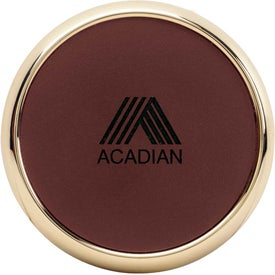 Lasered Leather Coasters for Advertising