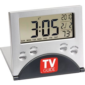 Logo LCD Travel Alarm Clock