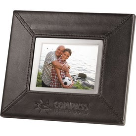 "Leather Digital Photo Frame (3.5"")"