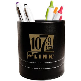 Leatherette Folding Caddy with Your Logo