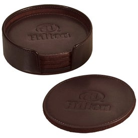 Branded Lincoln Center Round Coaster Set