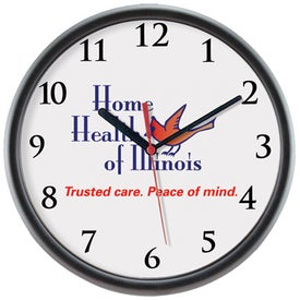 Logo/Photo Wall Clock Imprinted with Your Logo