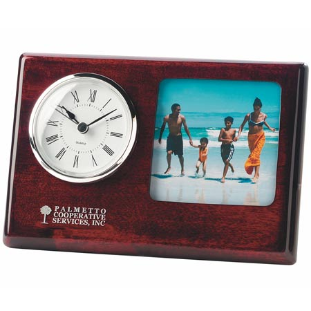 Rosewood Madera Picture Frame Clock