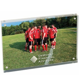 "4"" x 6"" Magnetic Acrylic Frame with Your Logo"