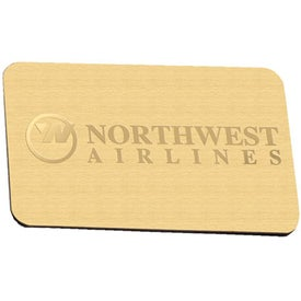 Magnetic Index - Satin Gold Imprinted with Your Logo