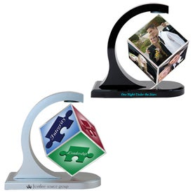 Magnetic Photo Cube Spinner for Promotion