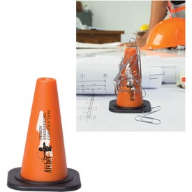Magnetic Safety Cone Paper Clip Holders