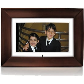 Custom Mahogany Wood Digital Photo Frame