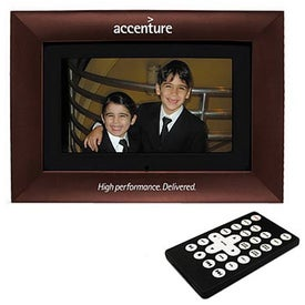 Branded Mahogany Wood Digital Photo Frame