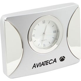 Matte Silver Desk Clock for your School