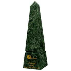 "Medium Verde Marble Plaque (10"")"