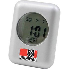 Metal Quartz Stylish LCD Alarm Clock