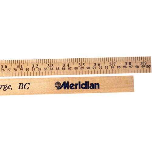 Promotional Meterstick - Natural Finish