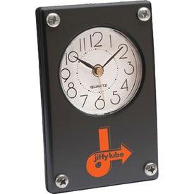 Imprinted Metro Super Slim Clock
