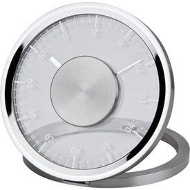 Metropolis Fold-Up Metal Clock Printed with Your Logo