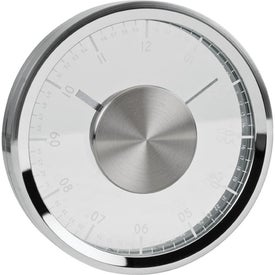 Metropolis Fold-Up Metal Clock Branded with Your Logo