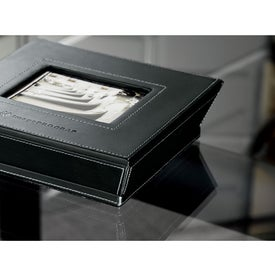 Imprinted Metropolitan Leather Photo Box