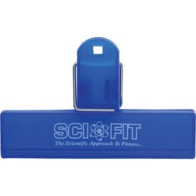 Translucent Mini Bag Clip Imprinted with Your Logo