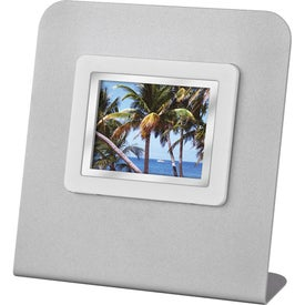 Monogrammed Mini Digital Frame with Stand