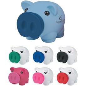 Imprinted Mini Prosperous Piggy Bank
