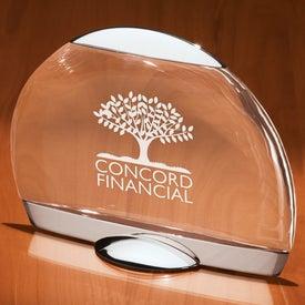 Mistral I Smooth Half Crystal Award for Promotion