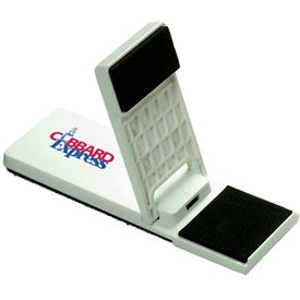 Mobile Device Stand with Cleaner for Marketing