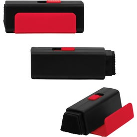 Mobile Phone Holder with Retractable Screen Cleaner Printed with Your Logo