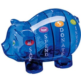 Money Savvy Pig Bank Printed with Your Logo