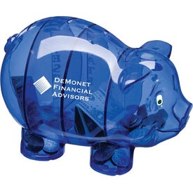 Branded Money Savvy Pig Bank