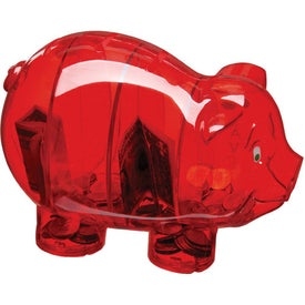 Money Savvy Pig Bank Branded with Your Logo