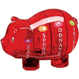 Promotional Money Savvy Pig Bank
