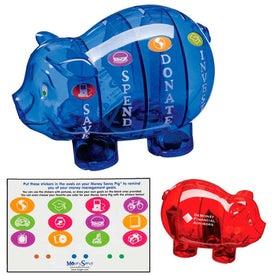 Branded Money Savvy Pig Bank