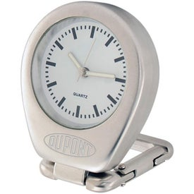 Money Clip With Quartz Analog Clock