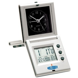 Multi-function Clock Imprinted with Your Logo