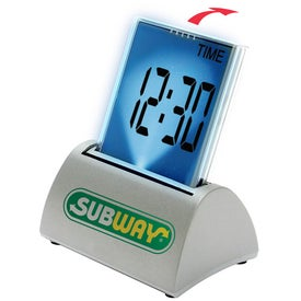 Multi Function Touch Screen Executive Metal Desk Clock for your School
