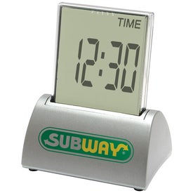 Multi Function Touch Screen Executive Metal Desk Clock