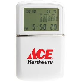 Monogrammed Multi Function Travel Alarm Clock Calculator