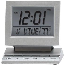 Monogrammed Multi Function Digital LCD Alarm/Calendar